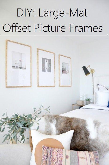DIY:  Large-Mat Offset Picture Frames