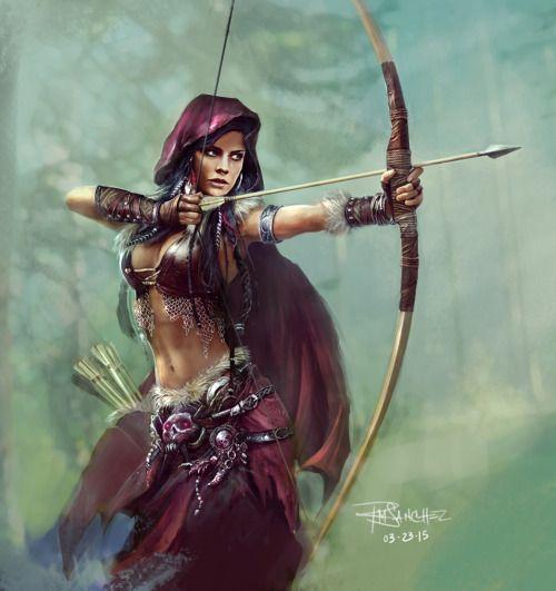 moonlightgear:spassundspiele:Archer – fantasycharacter concept by Roland Sanchez  Lake of Amazing Art