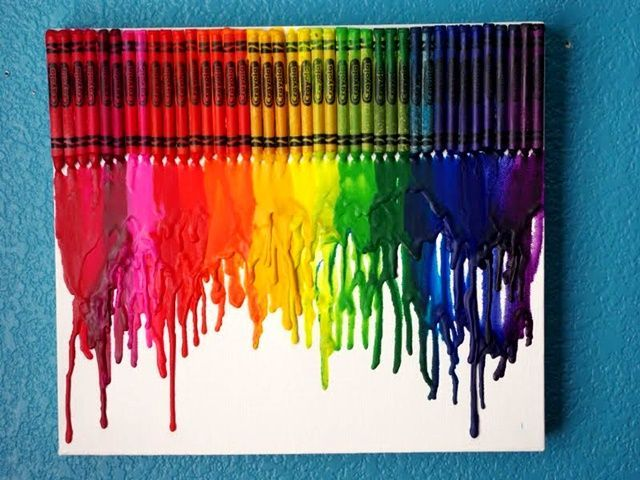 you know aforesaid DIY melted crayon art ideas on canvas. And make sure you remove the wrap of crayons before you melt them. Use the good quality of canvas #artsandcraftssurely,