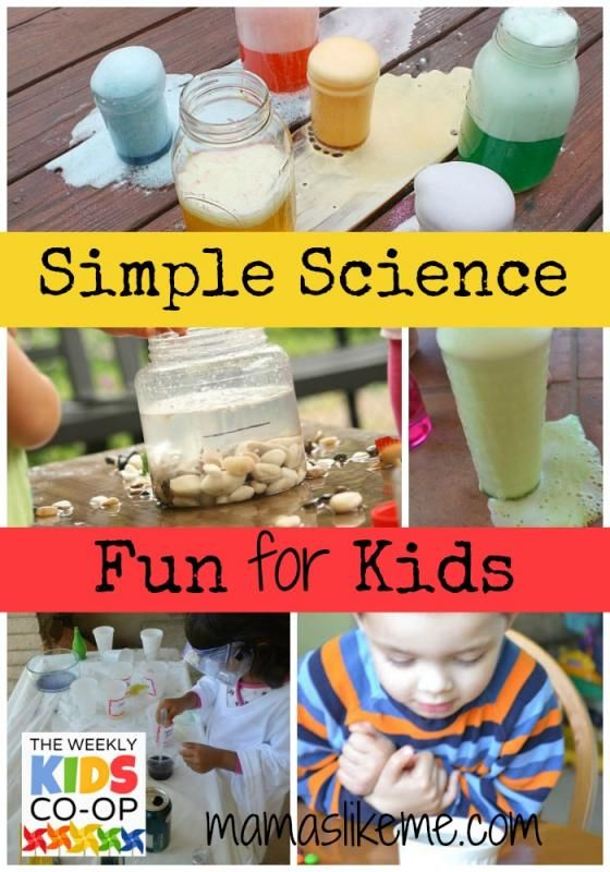 Mamas Like Me: Simple Science for Kids from The Weekly Kid's Co-Op