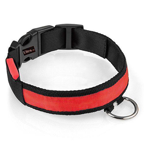 Aus der Kategorie Sicherheitshalsbänder   gibt es, zum Preis von EUR 7,00  <b>Einführung</b> <br>Wir freuen uns, Ihnen unser Sortiment an LED blinken/statische Hund Dollar, perfekt zur Erhöhung der Sicherheit Ihres Hundes zu Hause bringen zu können oder wenn Sie für Spaziergänge während des Tages oder der Nacht. Kaufen Sie ein Halsband Rot Mittel 40-48 cm (einstellbar). Mit dieser Prämie Qualität Nylon-Kragen, die Sie bequem ausruhen können wissen, wenn Sie Ihren Hund für Spaziergänge auch…