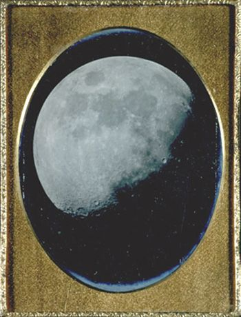 The Moon, August 6, 1851. Daguerreotype.