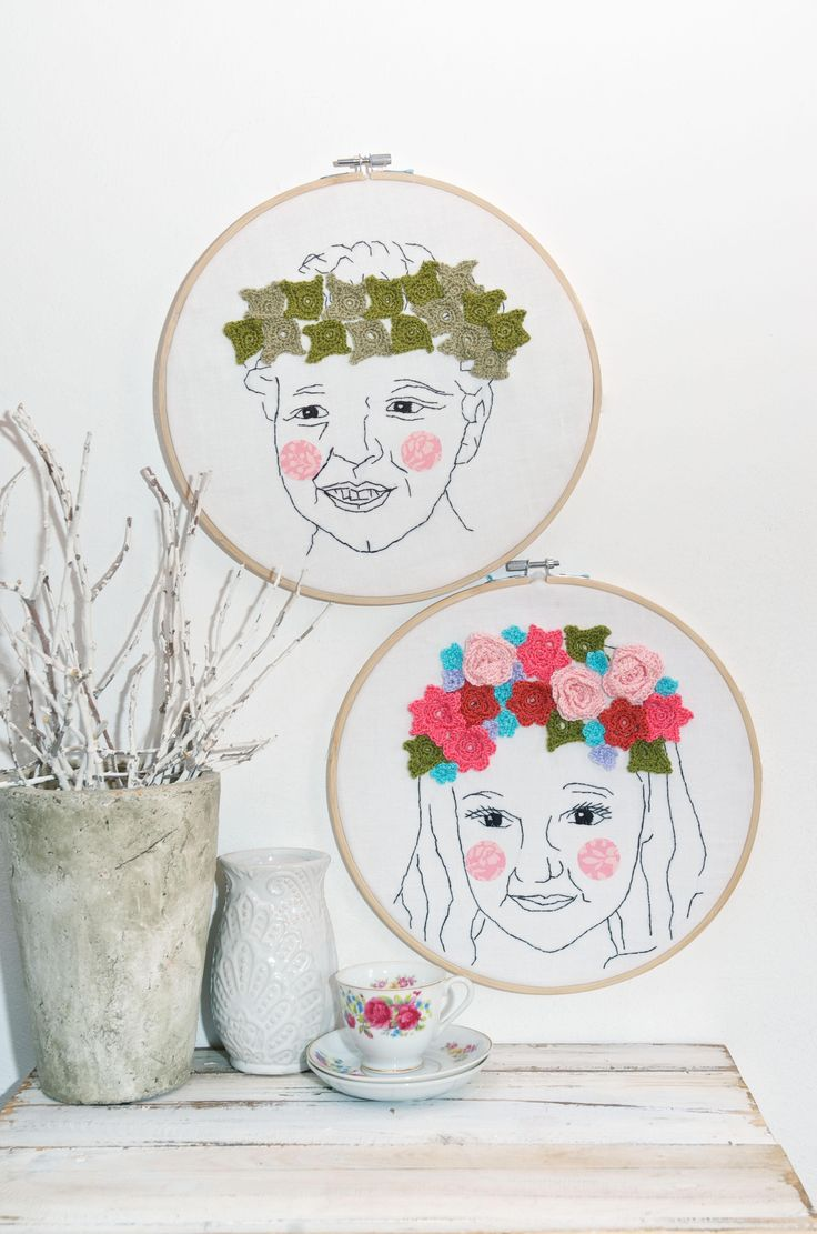 Embroidery and crochet #Ligmagazine #hoopart #crochet #embroidery #hoopcrochet