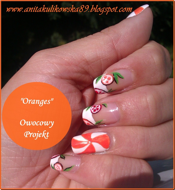 Oranges on the nails :)