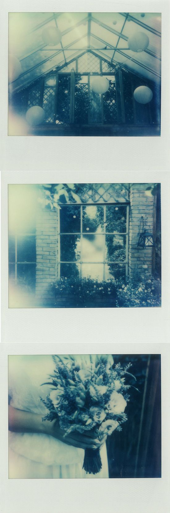 Greenhouse wedding captured on Impossible Project film #polaroid #zukistudio #impossibleproject #instantphotography