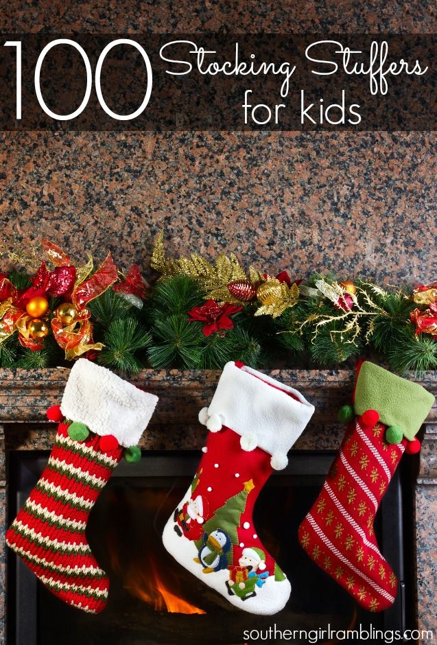 Coming up with good stocking stuffers for kids can be difficult. Check out this with 100 for babies, toddlers, and big kids!