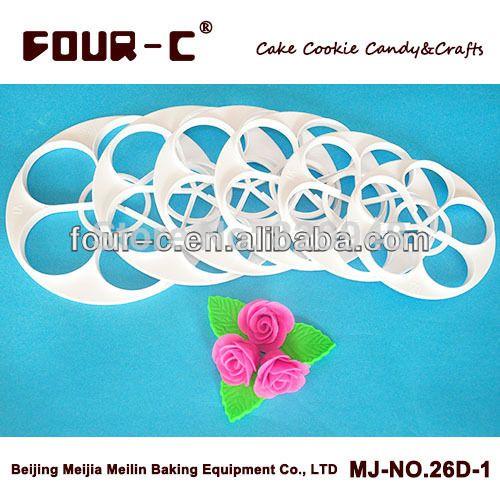Ferramenta bolo 1 conjunto 6 PC 130 g 15 / 14 / 13 / 12 / 11 / 10 CM grande grande rosa pétala de rosa folha de bolo cortador mold cozinha bakeware ferramentas fondant alishoppbrasil