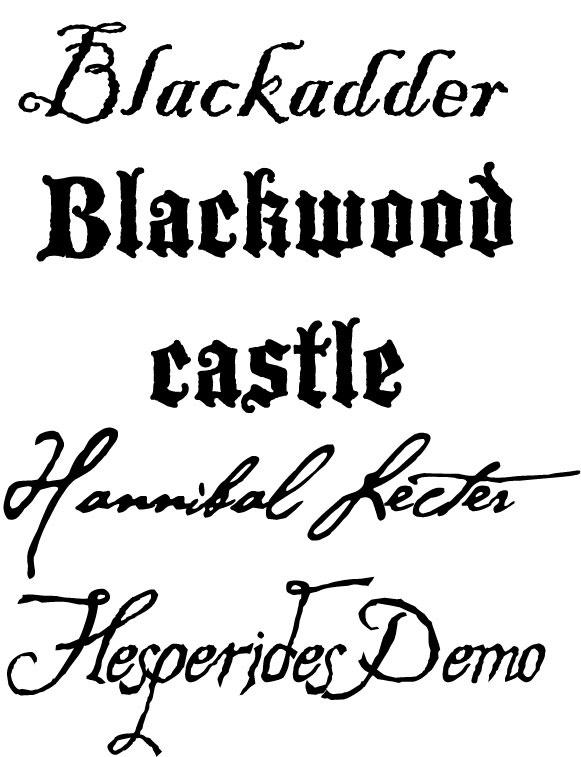 Urban Vinyl Lettering: Sample- Pirate Fonts