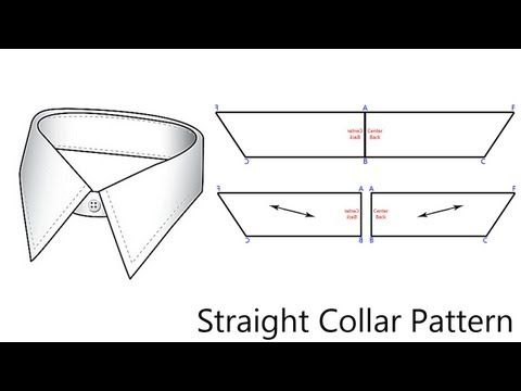 NOTE!!!!! B-C is half the measurement of the neck. A-F is half of the measurement around the neck plus 1 !!! PLEASE PLEASE NOTICE THIS or you will have a super long collar!  In this video I will show you how to pattern a straight collar.  I know to a few of you this video means nothing, but please read more here as to why I am doing this. I...
