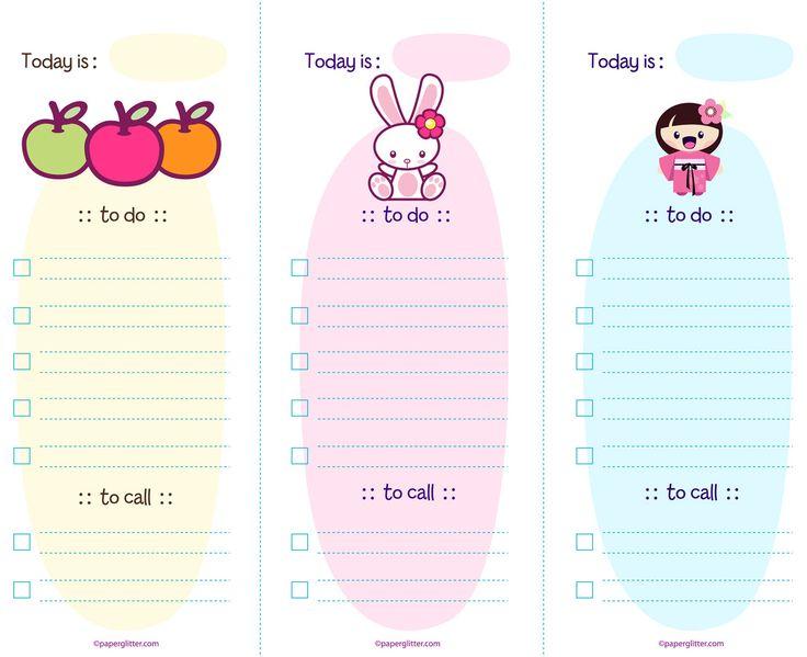 to do list printable cute
