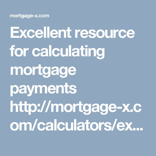 calculating mortgage payments