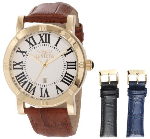 Best Watches 6: Invicta Men's 13971 Specialty Watch Set Silver Dial Brown Leather Watch with 2 Additional Straps ~ Gadget Watch 101 http://gadgetwatch101.blogspot.com/2013/02/best-watches-6-invicta-men-13971.html