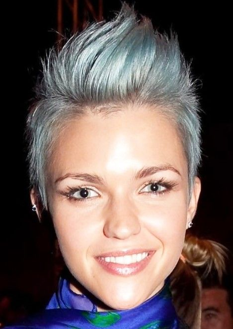 Trendy Hairstyles | Short Hairstyles 2013: Faux Hawk Hairstyle for women | Hairstyles ...