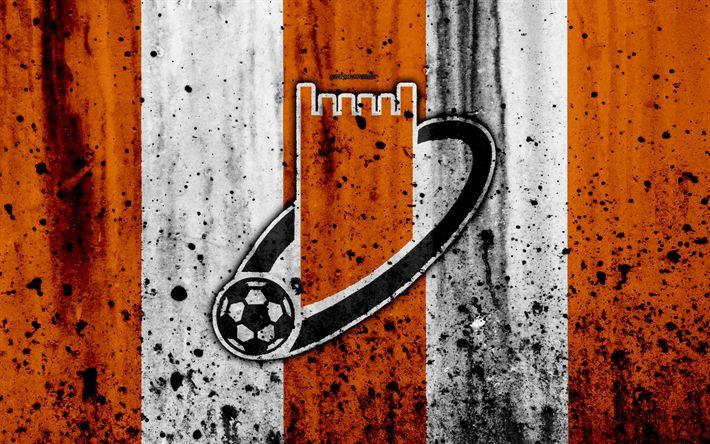 Download wallpapers 4k, FC Ajman Club, grunge, UAE League, soccer, football club, UAE, Ajman Club, creative, stone texture, Ajman Club FC