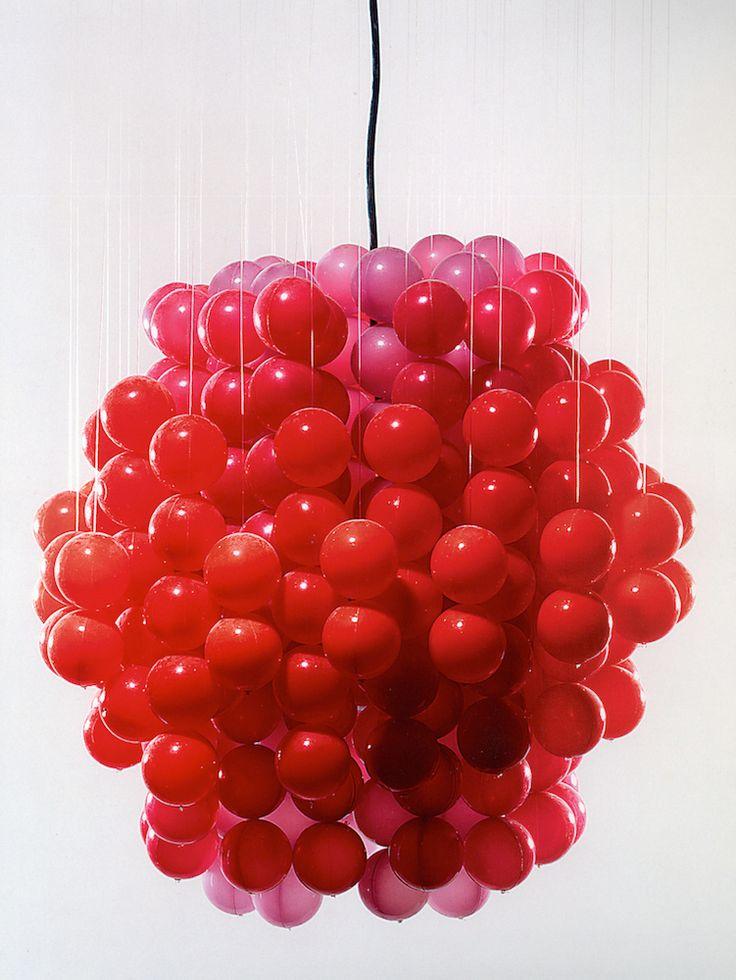 Lampe TYP F [Ball lamp] Lampă suspendată, 1969 - produsă începând din 1970. design: Verner Panton