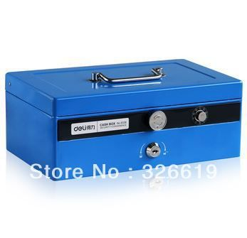 Cheap Safes on Sale at Bargain Price, Buy Quality cash security box, box, cash safe box from China cash security box Suppliers at Aliexpress.com:1,Size:27.5*16.5*10.5cm 2,Color:Black, Blue or Grey 3,Strongarmer type:mechanical safe 4,is_customized:Yes 5,Brand Name:deli