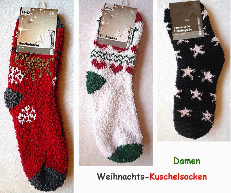Damensocken  Kuschelsocken  Weihnachtssocken - bastel-julchen
