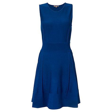 Buy Jigsaw Stitch Detail Dress, Dark Blue Online at johnlewis.com