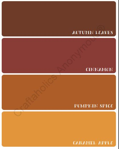 Autumn Paint Chip Fall Printable Paint Colors Pumpkins And Great Falls
