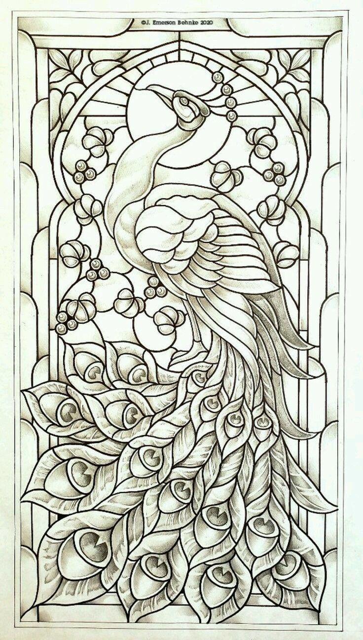 pin de birgit traub em malen  desenhos de vitrais