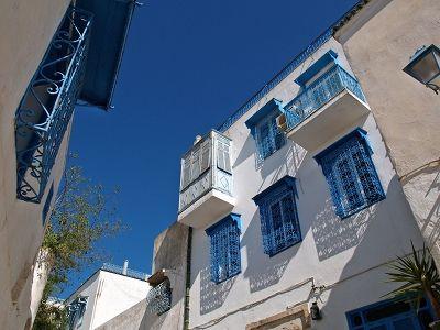 2005.02.13 日 シディ・ブ・サイド チュニジアンブルーの窓とドア - 散歩、旅行そして海外滞在の写真備忘録