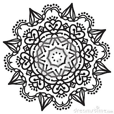 Mandala Black White Stock Photos, Images, & Pictures – (1,576 Images) - Page 3