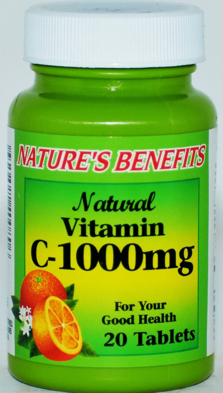 Natures' Benefits Natural Vitamin C1000 mg, 20 Tablets in