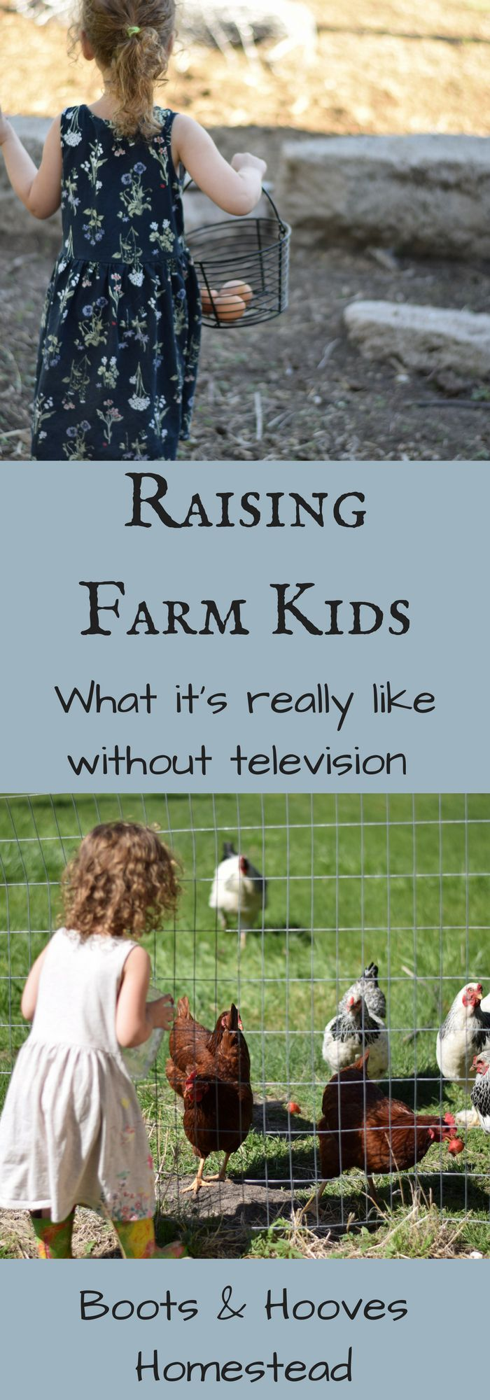 Raising Farm Kids: What it's Really Like Without TV - Boots & Hooves Homestead