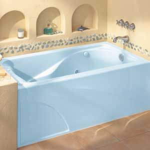 One of the most important considerations with bathtub size is rim height. The higher it is, the greater the water coverage enjoyed by the bather. Taller persons will have greater trouble with lower tub rims. Opting for a shower only - a neo-angle shower that fits into a corner may be the best choice when space is a consideration.