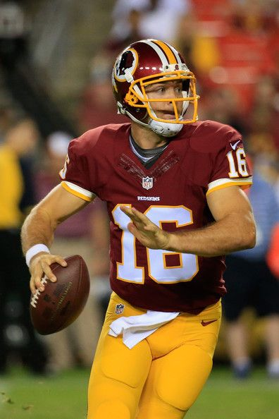 colt mccoy as redskin pics | Colt Mccoy Quarterback Colt McCoy #16 of the Washington Redskins drops ...