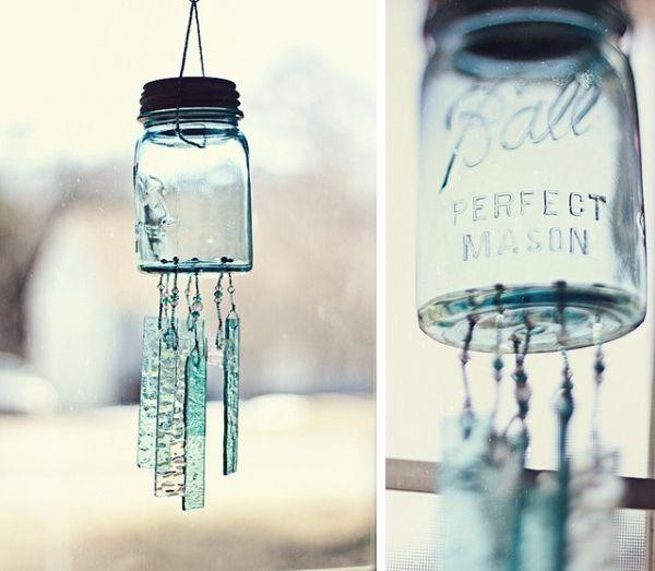 mason jar wind chime... by martha