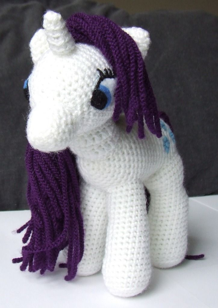 My Little Pony Toy Crochet Pattern! « The Yarn Box The Yarn Box bule green body purple hair č hearts on butt