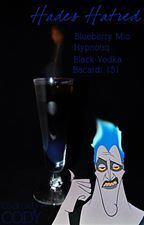 Disney-themed Cocktails by Cody - Hades (Hercules).  Description from his Facebook: Lord of the dead, Hades, is a layered flaming drink; true to his character. The base is Blueberry Mio with Hypnotiq, and black vodka/Spite makes up the middle. Topped with 151 and lit on fire, makes for one of the strongest drinks in this series to rival that of Maleficent.