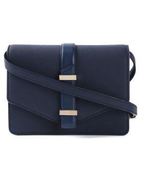 Victoria Beckham  Mini Flap Cross Body Bag Bleu