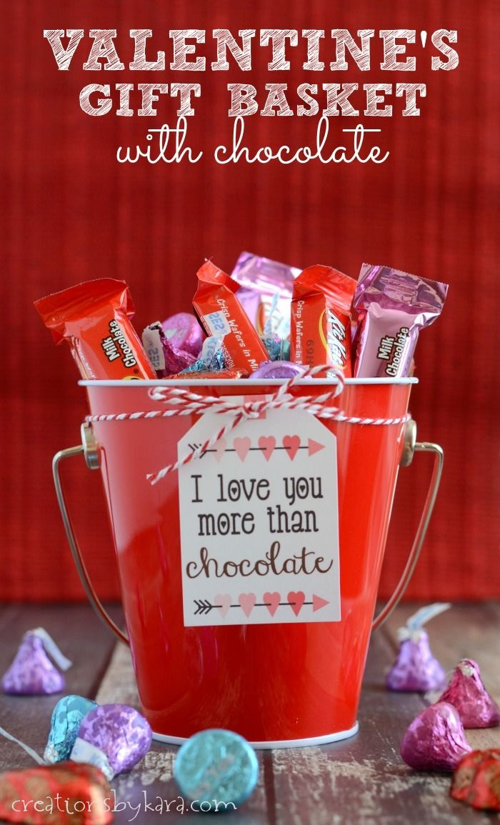 Surprise your loved ones with a Valentines gift basket filled with chocolate. I perfect way to show how much you love them!  #HSYMessageOfLove #ad #Valentine