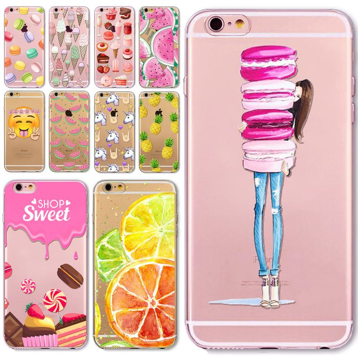 Phone Case Cover For iPhone  6 6S 5 5S SE 5C 6Plus 6sPlus 4 4S Fruit Lemon Banana Emojio Donuts Macaron Fundas Capa Para Bag