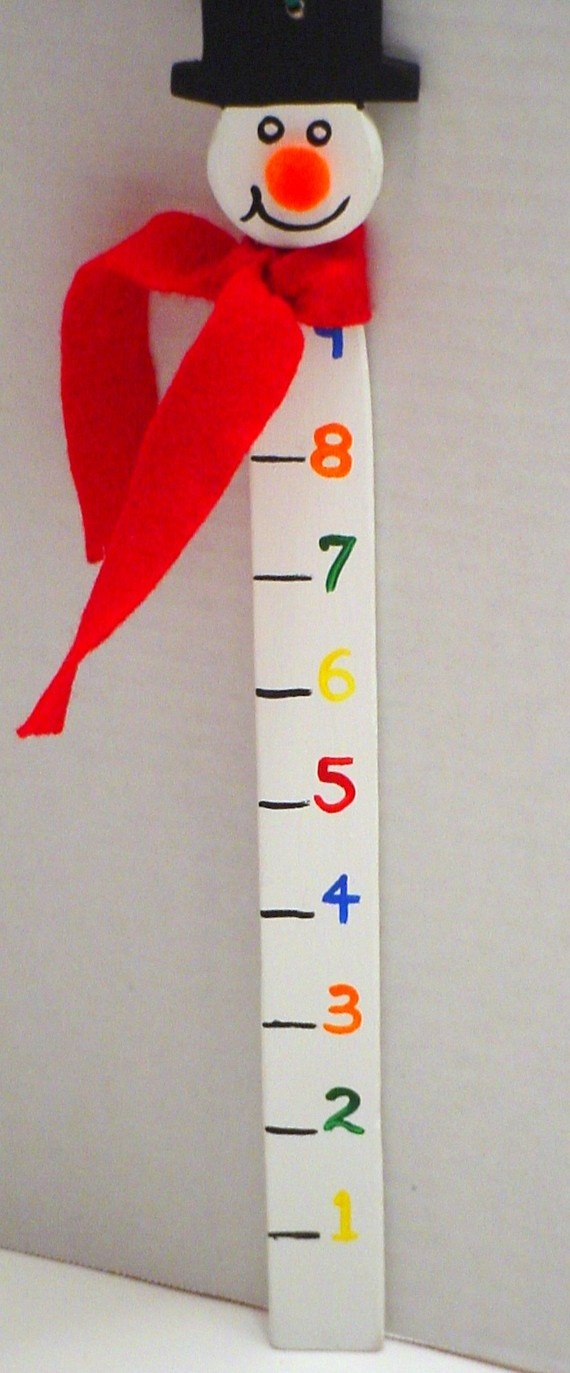 Snowman Measuring Snow Stick. Make something like this with a paint stick.