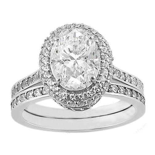 oval diamond bridal set