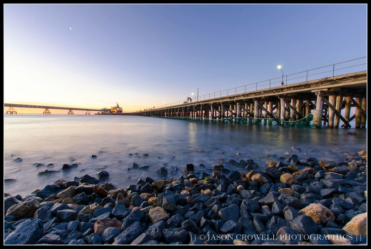 Wallaroo South Australia. A kind mix of relaxation and industry. #jetty #wharf #sunset