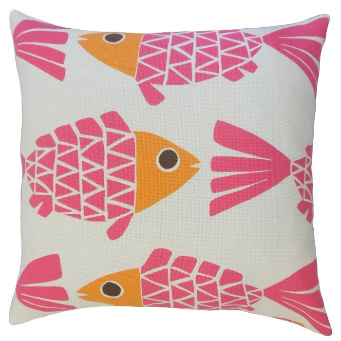 This outdoor cushion cover will instantly bring a character to your outdoor space. The brilliant pink and orange hues on a white background lends a pop of colour to your patio, garden and pool. This low-maintenance throw cushion cover is made of 100% high-quality synthetic material.