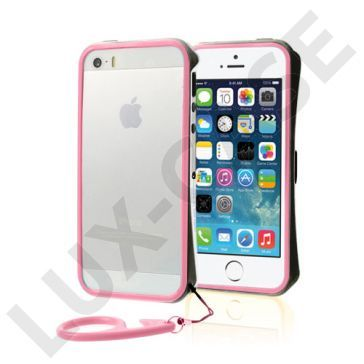 Clean Vapor (Svart - Rosa) iPhone 5/5S Lettvektet Bumper