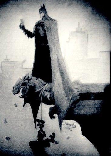 #draw #Batman #pencil #art
