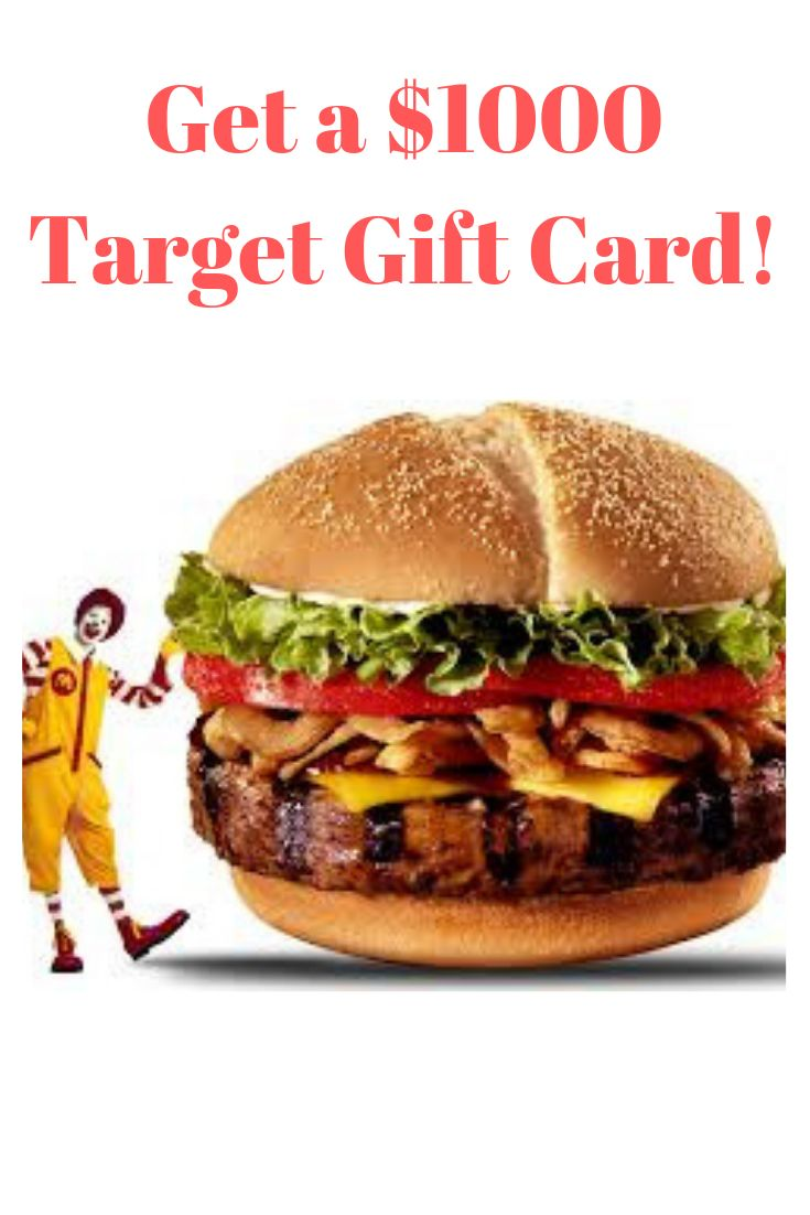 Enter for a chance to win a 1000 mcdonalds giftcard