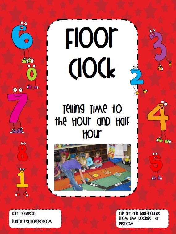 Fun For First: telling time with floor clock