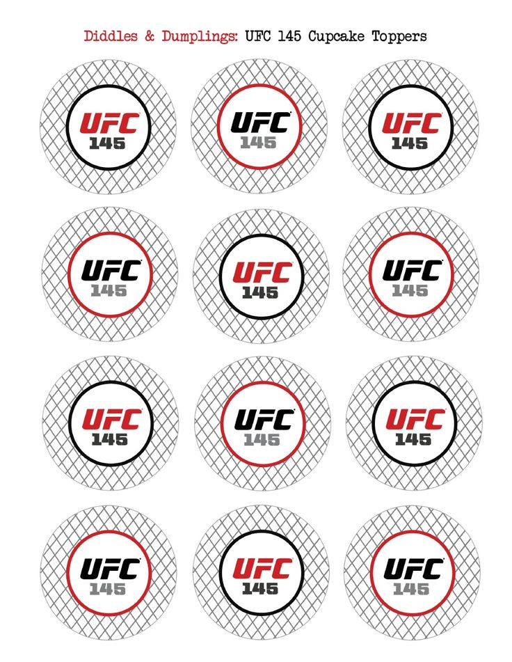 UFCcupcaketoppers (With images) Party, Ufc, Party night