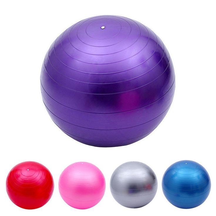 Yoga Ball 75cm Exercise Gymnastic Fitness Pilates Balance Exercise Gym Fit Yoga Core Ball Indoor Fitness Training Yoga Ball