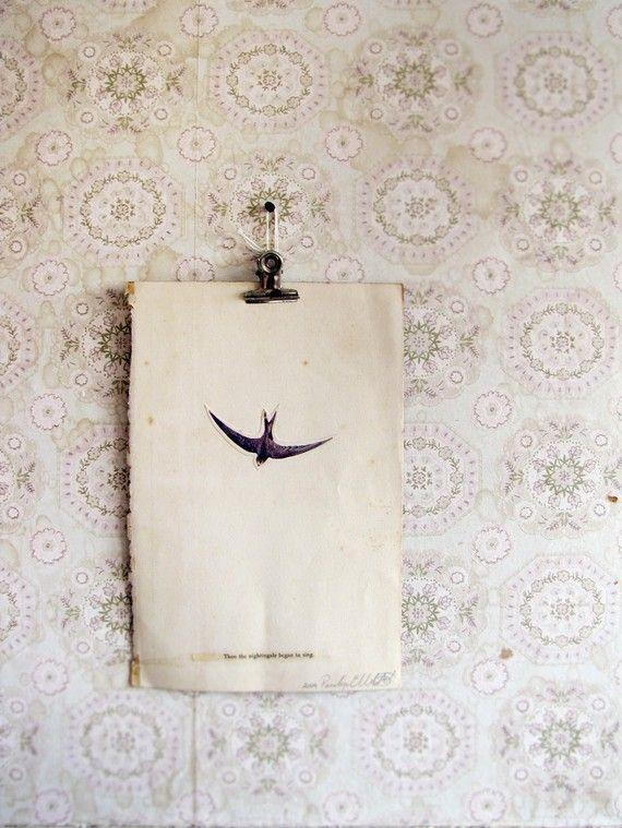 original paper collage - vintage papers by penny elizabeth neil <3: Ideas, Vintage Paper, Paper Collages, Inspiration, Art, Wallpaper, Birds, Design
