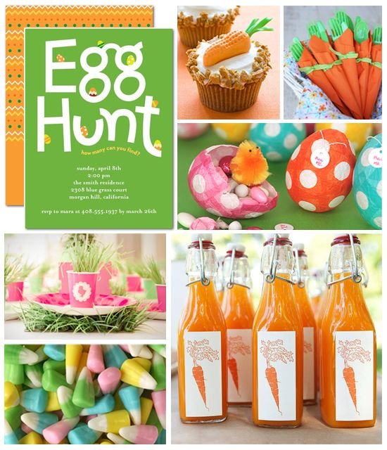 Have you started planning your Easter festivities? Get colorful inspiration for your Easter egg hunt party!: Easter Parties, Easter Egg Hunt, Easter Fun, Inspiration Boards, Easter Eggs Hunt'S, Parties Ideas, Easter Party, Hunt'S Parties, Easter Ideas