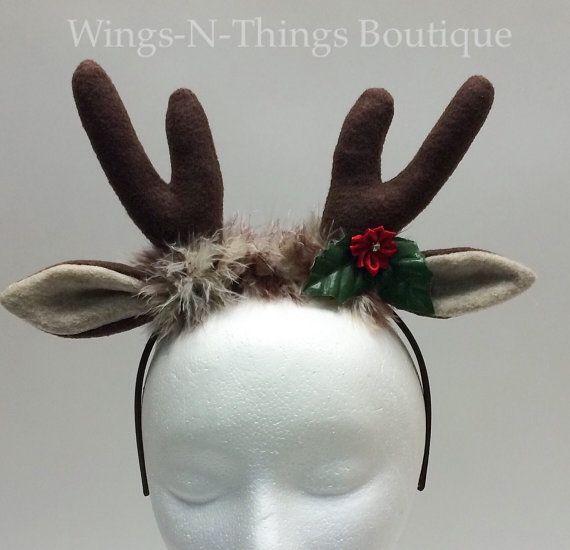 Best 25 reindeer antlers ideas on pinterest deer ears for Reindeer antlers headband craft