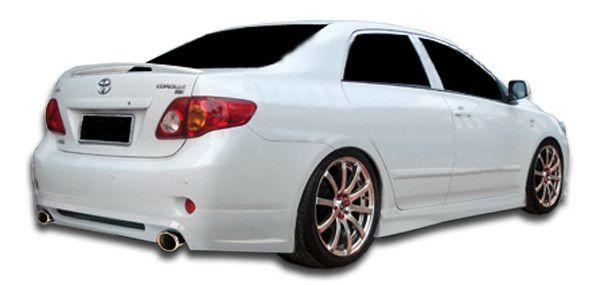2009-2010 Toyota Corolla Duraflex Shadow Rear Lip Under Spoiler Air Dam - 1 Piece (Clearance)